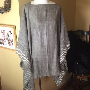 RAG & BONE sz OSFA Poncho Corded Stripe $295 new